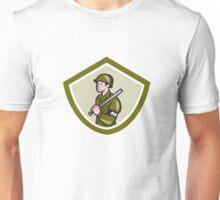 Military Police With Night Stick Baton Shield Unisex T-Shirt