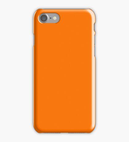 PURE COLOR-SUN ORANGE iPhone Case/Skin