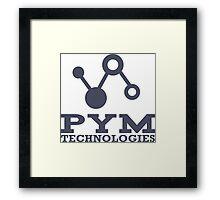 Pym Technologies Logo blue Framed Print