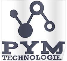 Pym Technologies Logo blue Poster