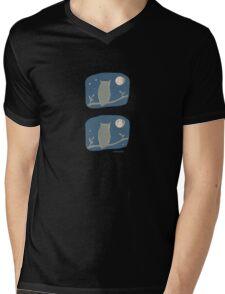 Owl Light Mens V-Neck T-Shirt