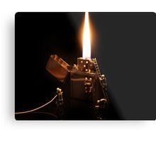 The Great Fire of Zippo Metal Print