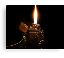 The Great Fire of Zippo Canvas Print