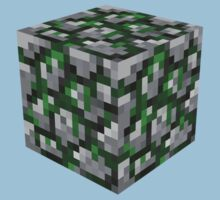 Minecraft Mossy Cobble Block by ReverendBJ