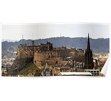 Edinburgh Castle from Salisbury Crags, Scotland Poster