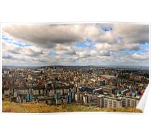 City of Edinburgh from Salisbury Crags, Scotland Poster