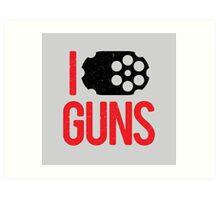 I heart Guns Art Print