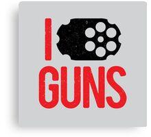 I heart Guns Canvas Print