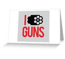 I heart Guns Greeting Card