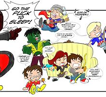 Chibi Avengers by keithcsmith