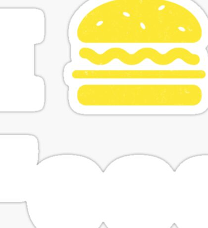 I heart Food Sticker