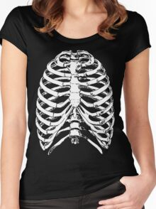 Human Anatomy: Rib Cage Women's Fitted Scoop T-Shirt