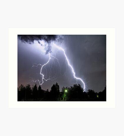 big lightning Art Print