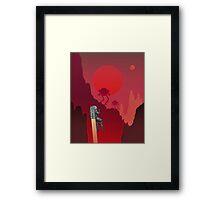 Blood Red Mars Framed Print