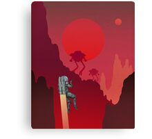 Blood Red Mars Canvas Print