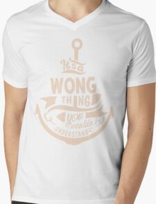 It's a WONG shirt Mens V-Neck T-Shirt