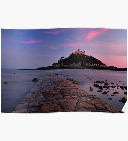 St Michaels Mount sunset Poster