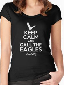 Keep Calm and Call the Eagles v2 Women's Fitted Scoop T-Shirt