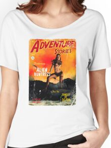 Adventure Stories the Alien Huntress Women's Relaxed Fit T-Shirt
