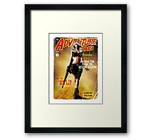 Adventure Stories the Android Girl from the Desert Storm Framed Print