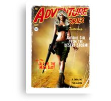 Adventure Stories the Android Girl from the Desert Storm Canvas Print