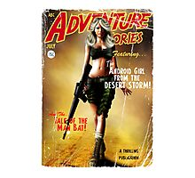Adventure Stories the Android Girl from the Desert Storm Photographic Print