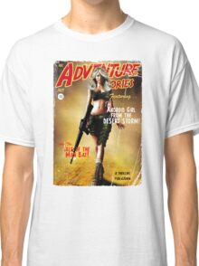Adventure Stories the Android Girl from the Desert Storm Classic T-Shirt