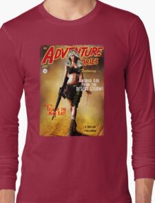 Adventure Stories the Android Girl from the Desert Storm Long Sleeve T-Shirt