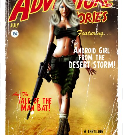 Adventure Stories the Android Girl from the Desert Storm Sticker