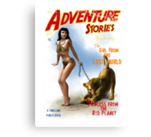Adventure Stories The Girl from the Lost World Canvas Print