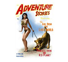 Adventure Stories The Girl from the Lost World Photographic Print