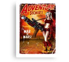 Adventure Stories The War of Mars Canvas Print
