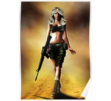 Desert Storm Pin Up Girl Poster