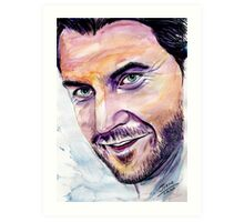 Richard ARMITAGE  welcome back Art Print