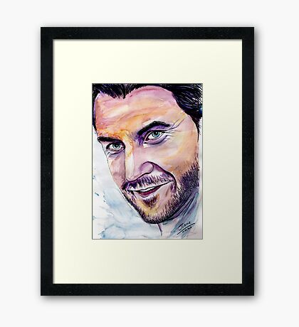 Richard ARMITAGE  welcome back Framed Print