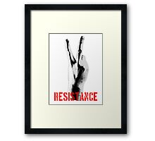 Resistance Middle Finger Framed Print