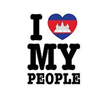 I Love My Khmer People  Photographic Print
