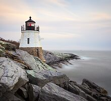 Castle Hill Lighthouse at Sunset by mcdonojj