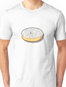 White donut with sprinkles Unisex T-Shirt