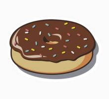 Chocolate Donut with Sprinkles by William Fehr