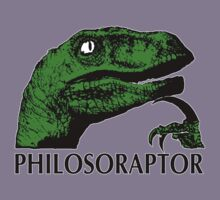 Philosoraptor. by SoftSocks