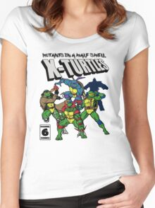 X-Turtles, Mutants in a half shell (Colab with RPAdame) Women's Fitted Scoop T-Shirt