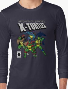 X-Turtles, Mutants in a half shell (Colab with RPAdame) Long Sleeve T-Shirt