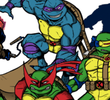 X-Turtles, Mutants in a half shell (Colab with RPAdame) Sticker