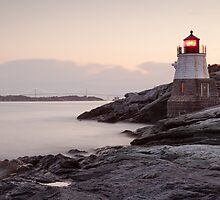 Castle Hill Lighthouse at Sunrise by mcdonojj