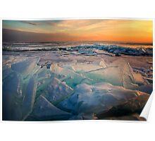 Ice Flow - Lake Superior Poster