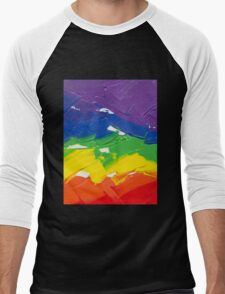 "Energetic Abstractions - ""Colour Splash"" Men's Baseball ¾ T-Shirt"