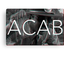 ACAB - Don't touch my weed ! Canvas Print