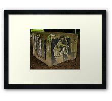 CONCRETE JAIL Framed Print