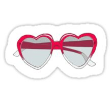 Heart shaped sunglasses Sticker